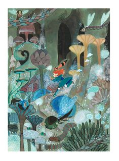 amelie flechais / nausicaa fanart...so...beautiful + such good balance of color choices + seems traditional mostly!