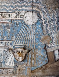Birth of the sun in Hathor Temple at Dendera.