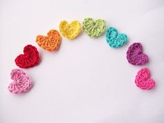 Flower Girl Cottage: Simple and Cute Crochet Heart Pattern Free