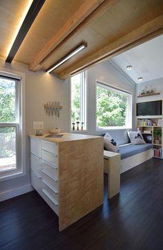 Kitchen Peninsula - SHEDsistence Tiny House