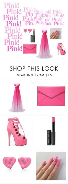 """PINK"" by eldina-salihovic ❤ liked on Polyvore featuring beauty, Rebecca Minkoff, Le Métier de Beauté, Elsa Peretti, beautiful, PinkDress and Elegant"