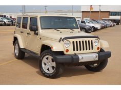 Love this color!! --Used 2011 #Jeep Wrangler Unlimited Sahara in Fort Smith, AR Area - Harry Robinson Buick GMC