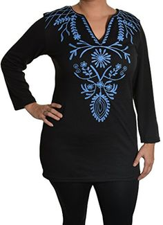 Highness NYC Embroidered Sweater Tunic (Black/Blue, 1X) Highness NYC http://www.amazon.com/dp/B00R8NF6RE/ref=cm_sw_r_pi_dp_raT-wb0K11H6F