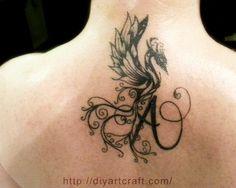 Araba Fenice: Alfabeto tattoo 26 lettere stilizzate rinate dalle ceneri
