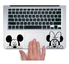 Mickey and Minnie Laptop Decal Stickers - these are the greatest!