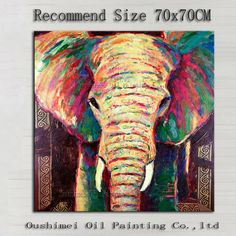 abstract elephant painting- I wish I could get something like this for Rowe Rowe Ross Elephant Love, Elephant Art, Elephant Paintings, Elephant Sketch, Colorful Elephant, Oil Painting On Canvas, Painting & Drawing, Canvas Art, Canvas Paintings