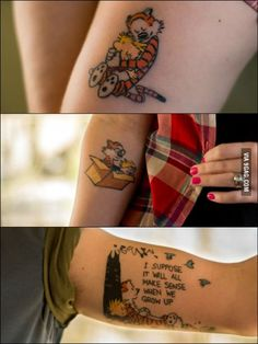 """My siblings and I got Calvin & Hobbes tattoos in memory of our father."""