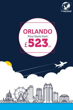 ✈️✈️ Fly to Orlando from London at £523*(Starting Fare) ✔️ Fly Now Pay Later ☎️ 0203 515 1888 ATOL Protected. Prices are subjected to seat availability. #travel #flightsale #orlandoflight #orlando #crystaltravel
