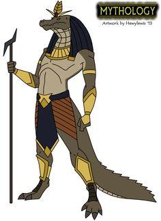 Mythology - Sobek by HewyToonmore on DeviantArt