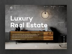 Luxury Real Estate by Ted Kulakevich - Dribbble Portfolio Website Design, Website Design Layout, Layout Design, Layout Web, Luxury Website, Modern Website, Web Ui Design, Graphic Design, Responsive Layout
