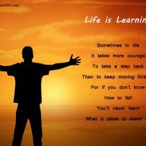 Life is learning