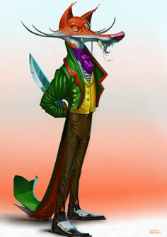 Reineke Fuchs color #fox #fuchs #characterdesign #design #animal #enjoywhatyousee