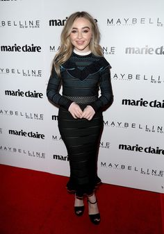 Singer Sabrina Carpenter attends Marie Claire's 'Fresh Faces' celebration with an event sponsored by Maybelline at Doheny Room on April 21, 2017 in West Hollywood, California.