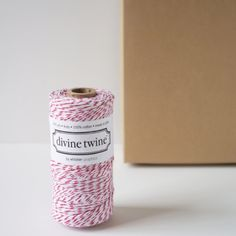 Red and White Divine Twine Holiday Christmas Wrapping and Gift Wrap