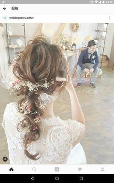 Pin by Yushu wei on 馬尾 in 2019 Bridal Hairdo, Hairdo Wedding, Bridal Hair Pins, Pixie Bob, Bohemian Wedding Hair, Magic Hair, Wedding Hair Inspiration, Aesthetic Hair, Bride Hairstyles