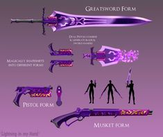 Art Backlog 06/22/2021 (1) by Lightning-in-my-Hand on DeviantArt Ninja Weapons, Anime Weapons, Sci Fi Weapons, Armor Concept, Weapon Concept Art, Weapons Guns, Dungeons And Dragons Homebrew, D&d Dungeons And Dragons, Fantasy Sword