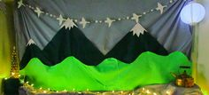 Loco Motive: Handmade Cards and Party Scaping: 16, Going on 17: Sound of Music Party:  Backdrop for the party, the Alps