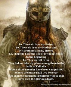 Discover and share Quotes About Valhalla Viking. Explore our collection of motivational and famous quotes by authors you know and love. Viking Power, Viking Life, Viking Warrior Men, Viking Battle, Viking Garb, Wicca, Warrior Spirit, Warrior Quotes, Norse Pagan