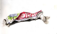 Draw a tube of toothpaste