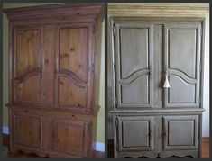 Nice before and after... Chalk paint