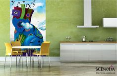 Poster géant CHAT BLEU http://www.scenolia.com/decor-mural-vertical/1272-decor-chat-bleu-bruno-thery.html