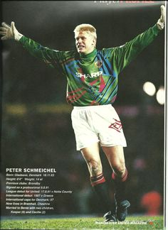 Peter Schmeichel. Back when GK's wore the same shorts and socks as the rest of the team.