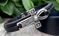 Leather Ankh Bracelet Egyptian Jewelry Ankh Charm Silver Egyptian Ankh Adjustable Genuine Leather Mens Womens Ankh Bracelet Ankh Jewellery
