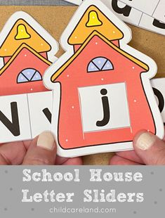 School Letter Sliders Early Learning Activities, Classroom Activities, House Letters, Letter Recognition, Sliders, Back To School, Card Stock, Kindergarten, Homeschool