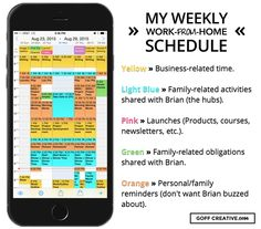 My Weekly Work-From-Home Schedule Example (Sara Eatherton-Goff)