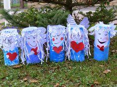 Toilet Tube, Angel And Devil, Winter Art, Advent, Activities For Kids, Preschool, Christmas Decorations, Xmas, Outdoor Decor