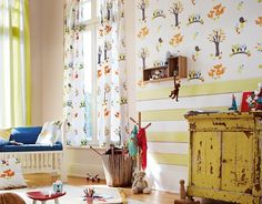 Esprit bostafereel behang 941151 Baby - Peuter AS Creation Cartoon Birds, Curtains, Bedroom, Wallpaper, Collection, Home Decor, Free Shipping, Watch, Boys Nursery Wallpaper