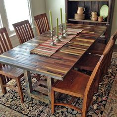how to build a dining table with reclaimed materials | cabin