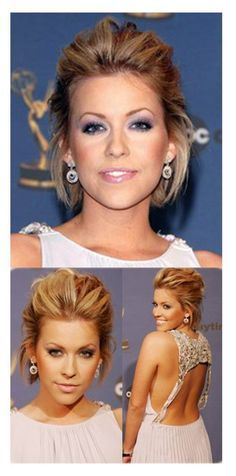 party hairstyle for short chin length hair