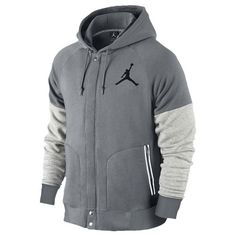 7d2c9623a11 Nike Jordan Varsity Hoodie Mens Grey Fleece Hooded Jacket Size for sale  online