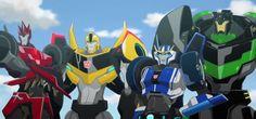 Transformers Adventure Sideswipe, Bumblebee, Strongarm and Grimlock (from Transformers Adventure opening titles)