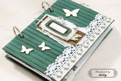 Handmade butterfly notebook