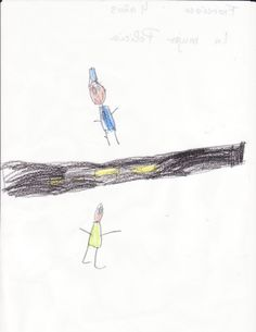 Dibujo realizado por Francisco. Educación Infantil 4 años. La mujer policía.