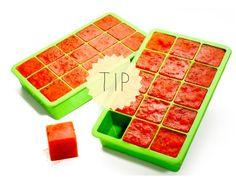 Tip: vries restjes saus als ijsblokjes in - Lekker en Simpel