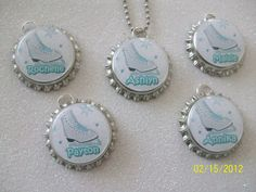 Here is a set of fun ICE SKATE themed party favor bottlecap necklaces! Ice Skating Party, Roller Skating Party, Skate Party, I Party, Birthday Party Favors, Birthday Ideas, Birthday Parties, Ice Rink, 12th Birthday