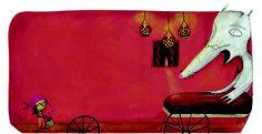 Miguel Tanco ilustra el diálogo más famoso del cuento clásico Caperucita Roja. La editorial de literatura infnatil y juvenil Edelvives incluye este cuento en la colección de audio libros Colorín Colorado.