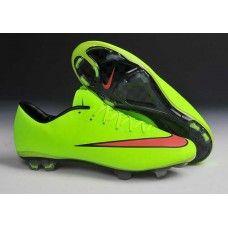 sports shoes e5574 93e59 Nike Mercurial Vapor X FG Pro Hyper fluoreszierend grasgrün rot billig  Fußballschuhe Fussball, Nike Stollen