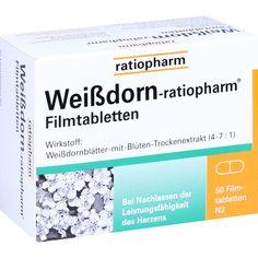 WEISSDORN RATIOPHARM Filmtabletten:   Packungsinhalt: 50 St Filmtabletten PZN: 10546935 Hersteller: ratiopharm GmbH Preis: 5,97 EUR inkl.…
