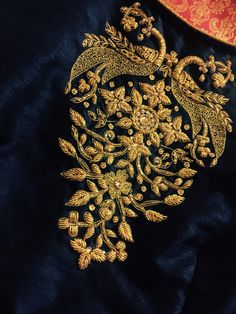 Renovate your Wardrobe, We provide customization in Designer Blouses & women ethnic wear. that reflect Amazing Handwork & Unique Zardosi Art at Your Budget & time, Worldwide Delivery. Embroidery Neck Designs, Hand Work Embroidery, Embroidery Suits, Zardozi Embroidery, Couture Embroidery, Bullion Embroidery, Embroidery Fabric, Wedding Saree Blouse Designs, Fancy Blouse Designs