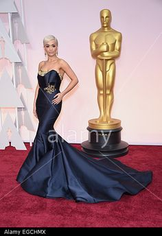 RITA ORA on the red carpet during arrivals for the 87th Academy Awards Hollywood, California, USA. 22nd Feb, 2015. © ZUMA Press, Inc. / Alamy
