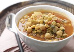 Spanish Chickpea Stew #fruit #veggies #protein #MyPlate #WhatsCooking