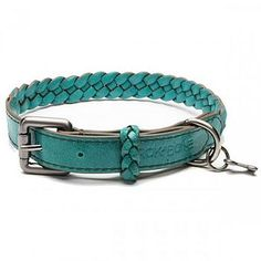 Huckleberry Leather Braided Dog Collar  by Rokabone  £29