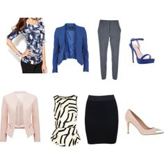 """2 work outfits"" by mia-flores on Polyvore"