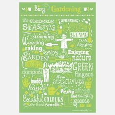 Busy Gardening Print I by Busy Being