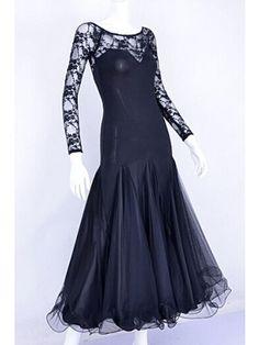 328a9346279 Ballroom dance double layers lace dress Foxtrot quickStep Dance Teacher