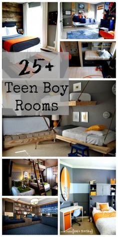 25+ Teen Boy Bedrooms via @remodelaholic #teenboy #teens #boys